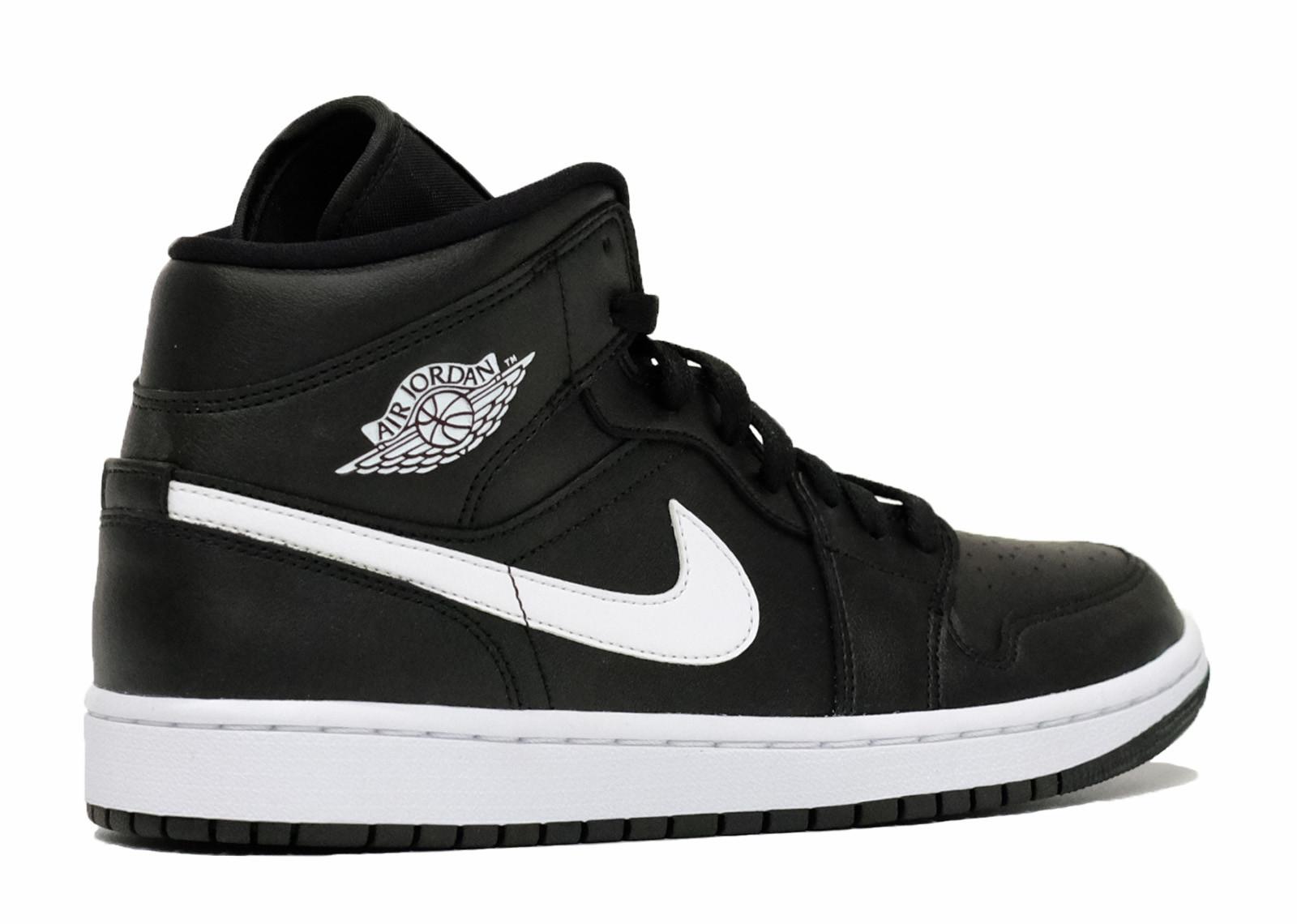 Air Jordan 1 Mid Black White image 2