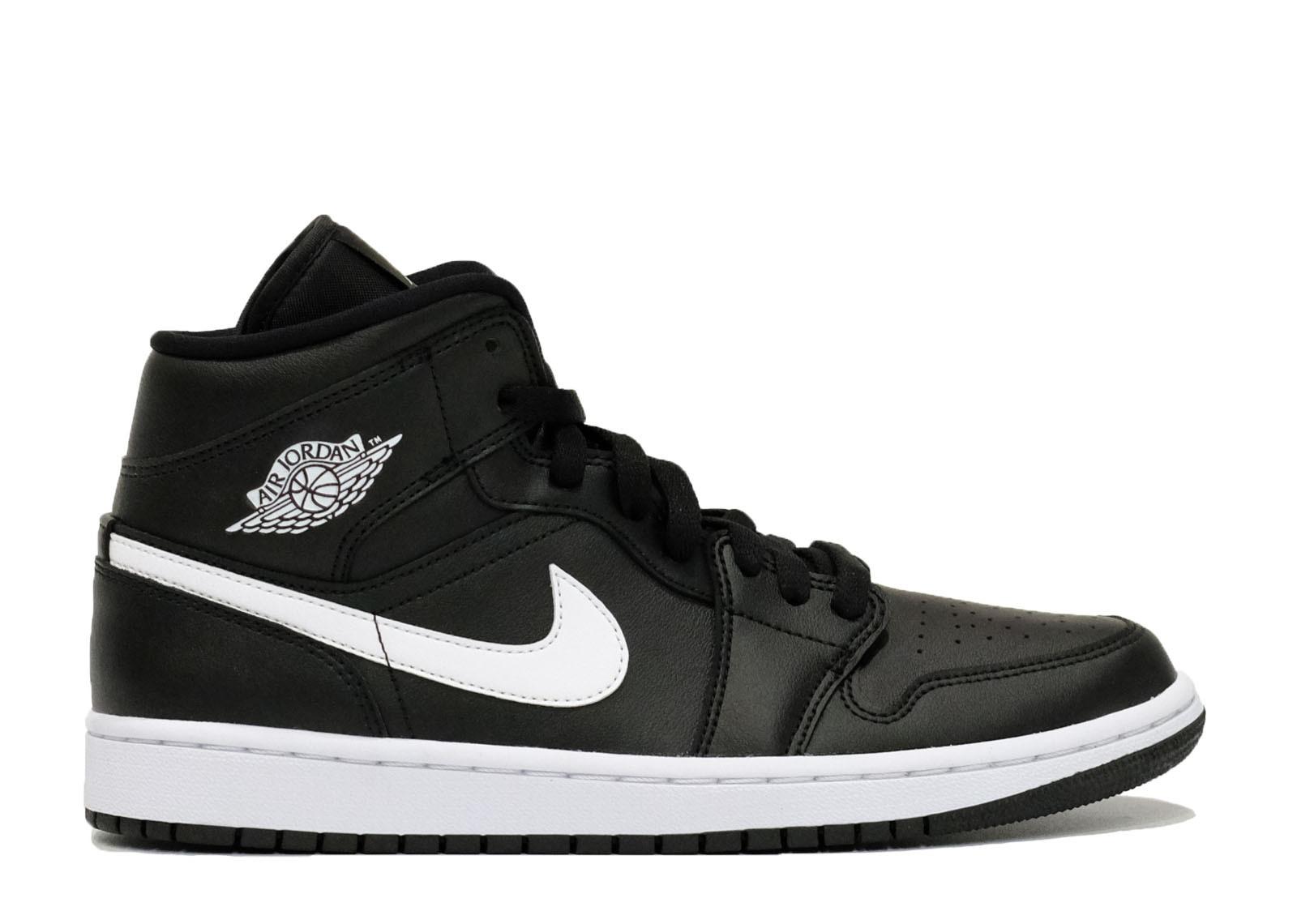Air Jordan 1 Mid Black White image 1