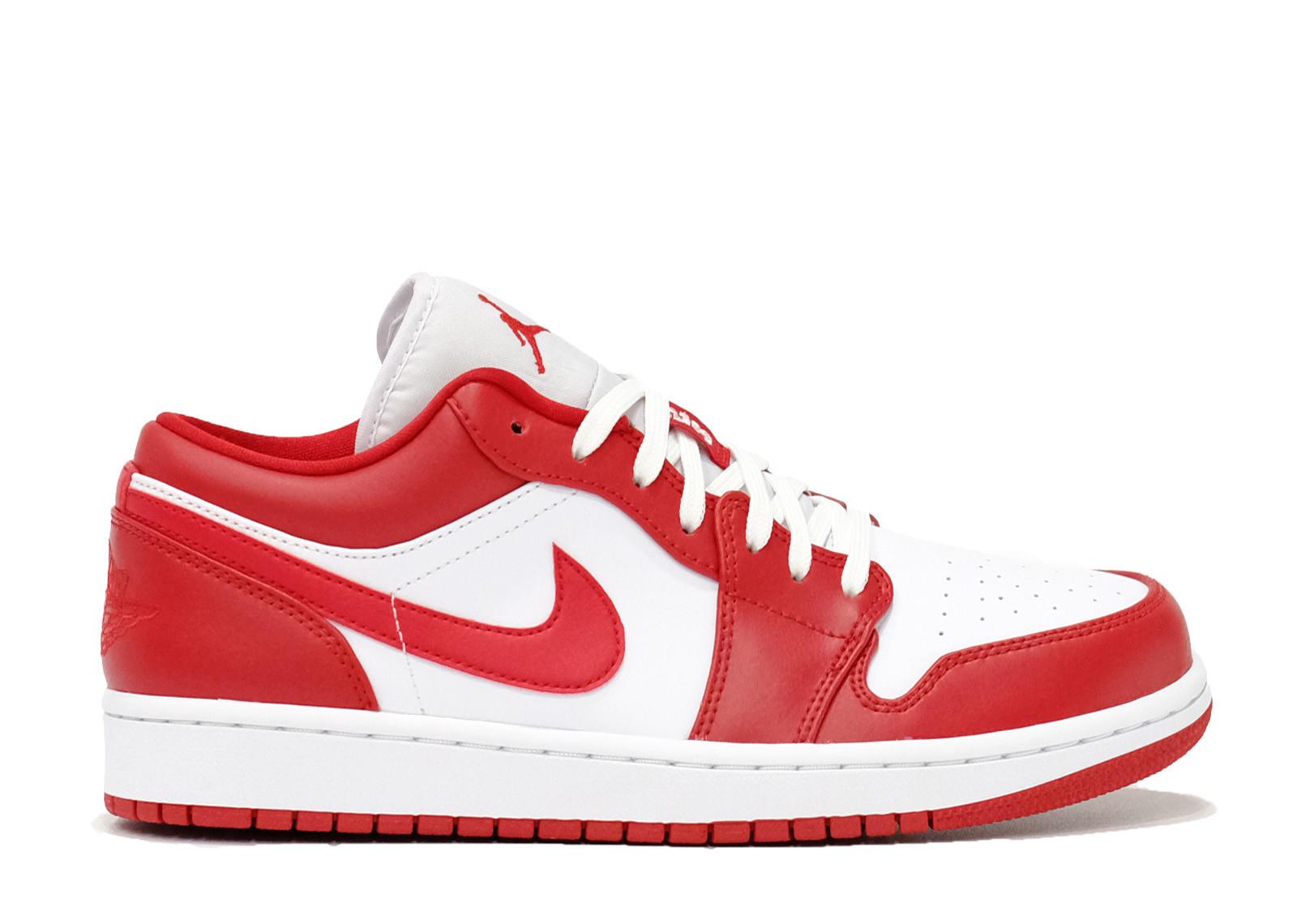 AIR JORDAN 1 LOW GYM RED WHITE image 1