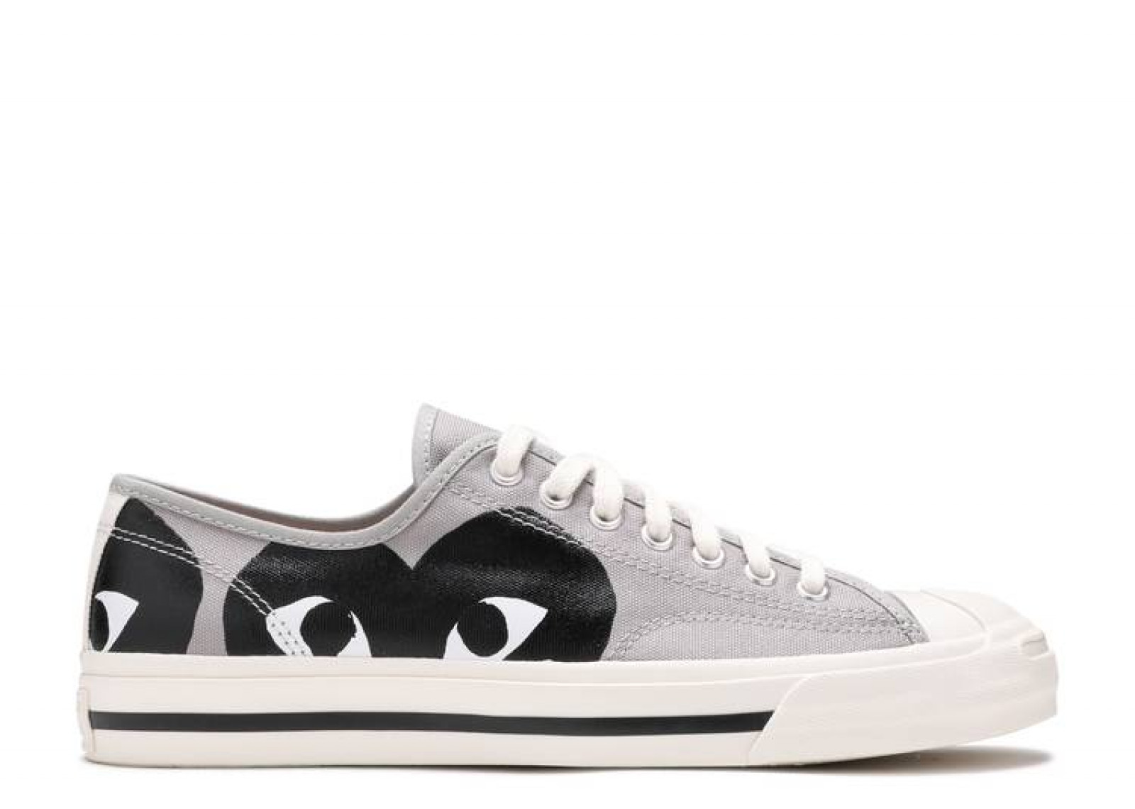 Converse Jack Purcell Comme Des Garcons PLAY Grey Black image 1