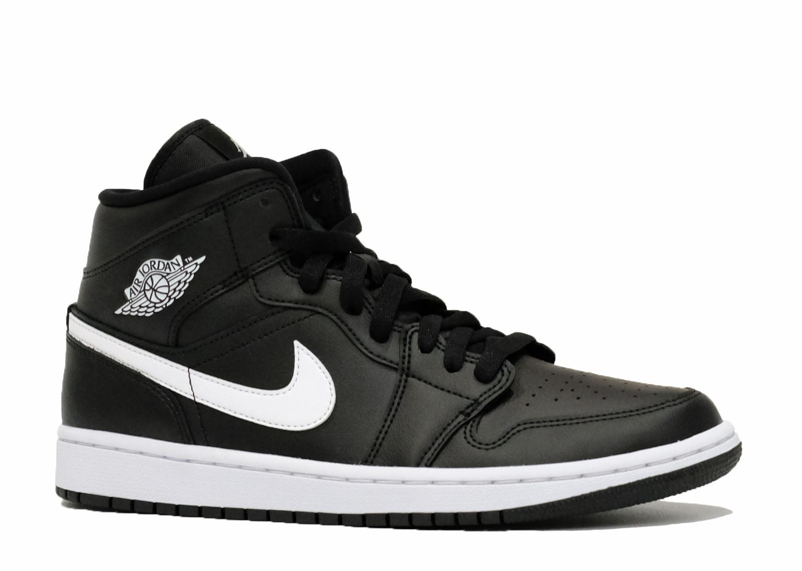 Air Jordan 1 Mid Black White image 3