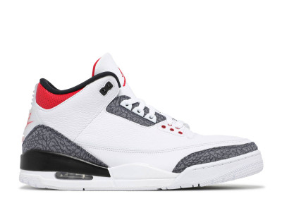 AIR JORDAN 3 RETRO DENIM FIRE RED
