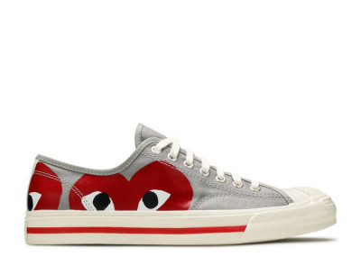 Converse Jack Purcell Comme Des Garcons PLAY Grey Red