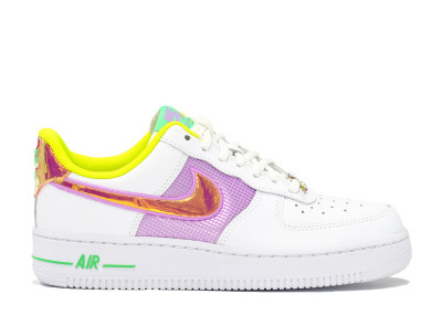 "AIR FORCE 1 W ""Easter White Multi Lemon Venom"""