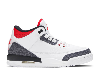AIR JORDAN 3 RETRO DENIM FIRE RED (GS)