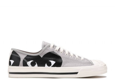 Converse Jack Purcell Comme Des Garcons PLAY Grey Black