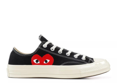 CONVERSE CHUCK 70 LOW X COMME DES GARCONS PLAY BLACK